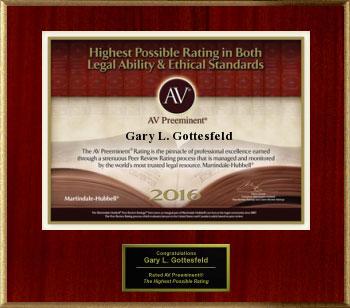 AV Preeminent 2016 Gary Gottesfeld