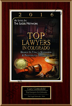 Top Laywers in Colorado Gary Gottesfeld 2016